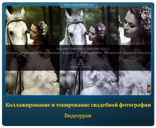 Коллажирование и тонирование свадебной фотографии