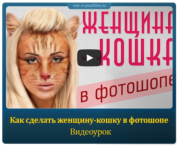 Как сделать женщину-кошку в фотошопе