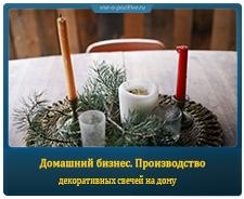 Домашний бизнес. Производство декоративных свечей на дому